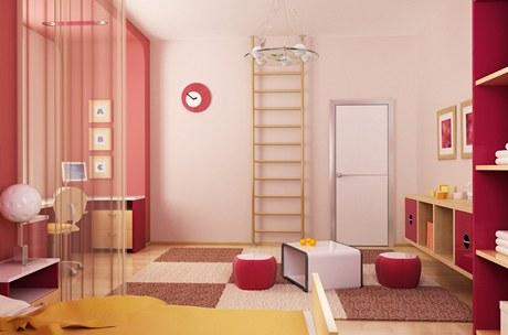 Dětské pokoje snesou i výraznější barvy