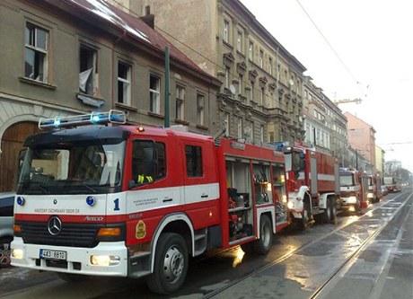 V Sokolovské ulici v Praze Karlíně hořel squat