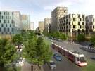 Takto by měla vypadat realizace projektu Žižkov City v místech dnešního nákladového nádraží v Praze 3