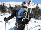 Zimní výstup na Sněžku zkoušejí hlavně lyžaři