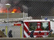 Požár věznice u anglického Arundelu. (1. ledna 2011)