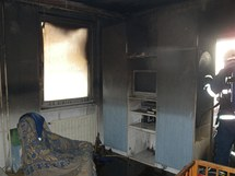 Požár v bytě v Plané nad Lužnicí