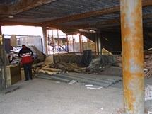 Budova bývalého kasina naproti hlavnímu nádraží v Brně, ve kterém 8. ledna 2002 zahynuli dva hasiči a krupiér.