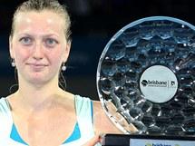 Petra Kvitová s trofejí za turnajový triumf v Brisbane