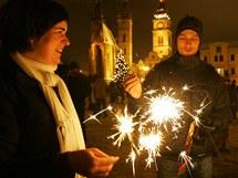 Novoroční oslavy v Hradci Králové (1. ledna 2011)