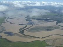 Povodně v Austrálii zabírají plochu velkou jako Německo a Francie dohromady (4. ledna 2010)