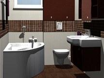 Proměna staré koupelny ve třech variantách