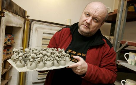 Jiří Kalabis z muzea keramiky v Tupesých.