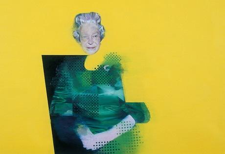 Obraz britské královny Alžběty II. od Justina Mortimera z roku 1998