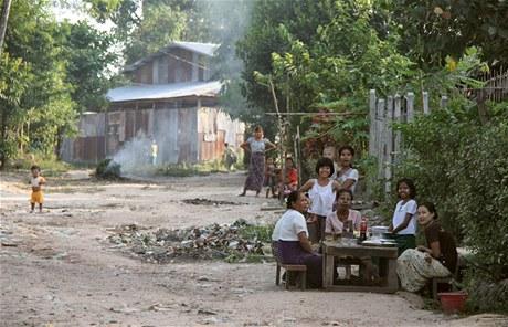 Zastrčená ulička v Twante si žije vlastním životem