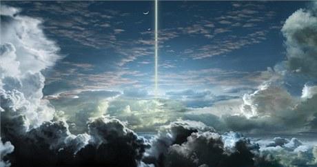 Obloha plynn�ho obra psr b 1620-26 b nab�z� podle Rona Millera z�blesky pulsaru a pohled na hv�zdokupu, do jej�ho� j�dra syst�m sm��uje.
