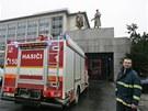 Hasiči vyjeli k požáru Janáčkova divadla. Jednalo se o požár šatní skříně.
