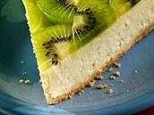 Tvarohový dort s kiwi.