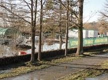Zatopené zahradnictví v Plzni na Roudné
