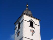 Věž kostela v Sankt Wolfgangu