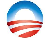 Volební logo Baracka Obamy.