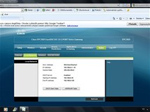 Nastavení modemu Cisco EPC 3925.