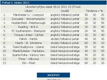 PŘED VYHODNOCENÍM. V pořadu prvního sázkového týdne hry Sazka byl na třetím řádku fotbalový zápas Huddersfield - Petersborough.