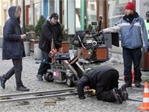 Natáčení filmu Yuma v centru Ostravy.