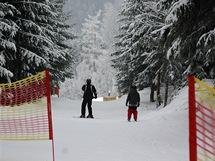 Dolní Morava-Sněžník, zpomalovací šikana na přejezdové cestě