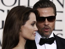 Zlaté glóby 2011 - A. Jolie a B. Pitt