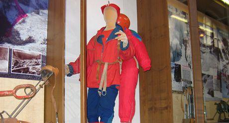 Expozice výstavy o lavinách a záchranářích z Horské služby, která je k vidění v muzeu ve Vrchlabí.