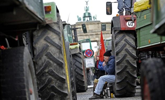 Tisíce N�mc� po�adovaly v sobotu v Berlín� zm�ny zem�d�lských postup� kv�li skandálu s dioxiny (22. ledna 2011)
