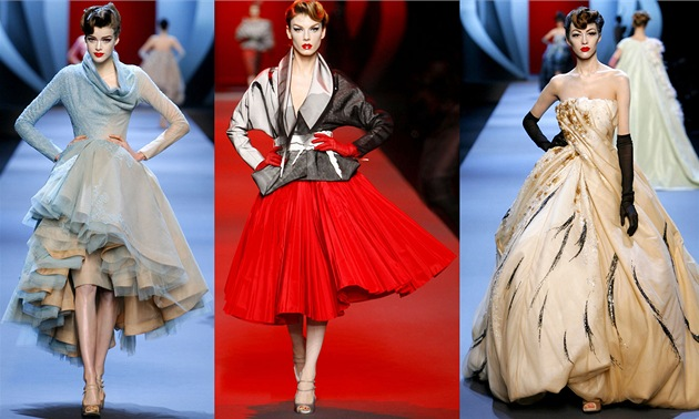 Haute couture p�ehlídka Dior, jaro-léto 2011