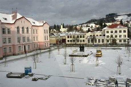 Rekonstruované náměstí Svobody ve Vsetíně.