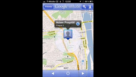 Google Latitude na iPhone