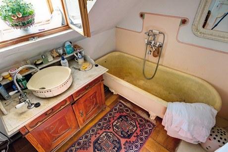 Koupelna s patinou