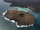 Pohled na ostrov Sombrero Chino na Galapágách (15. ledna 2011)