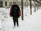 Správce zchátralého areálu lázní v Bělovsi David Troutnar
