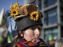Tisíce Němců požadovaly v sobotu v Berlíně změny zemědělských postupů kvůli skandálu s dioxiny (22. ledna 2011)