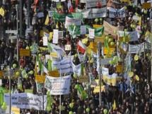 Tis�ce N�mc� po�adovaly v sobotu v Berl�n� zm�ny zem�d�lsk�ch postup� kv�li skand�lu s dioxiny (22. ledna 2011)