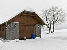 Zimu na Vysočině si rodina užívá