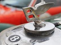 Bentley na závodu veteránů The Winter Trial v Letohradu