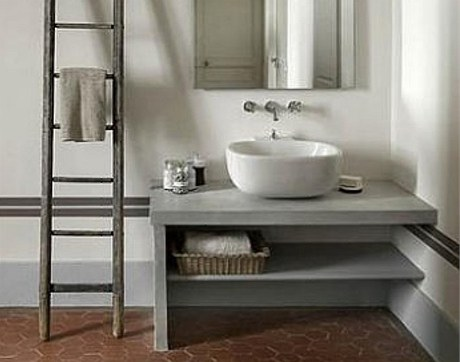 Jednoduch� koupelna od francouzsk� interi�rov� n�vrh��ky Nathalie Vingot Mei