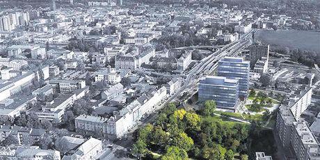 Budoucí podoba Tieto Tower na náměstí Republiky v Ostravě.