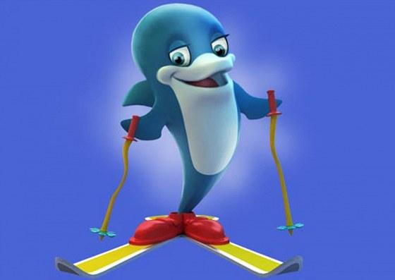 Delfínek, kandidát na oficiálního maskota zimní olympiády v Soči 2014.