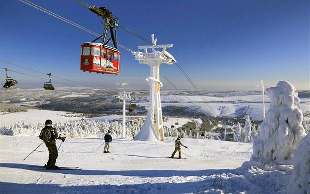 Německý lyžařský areál Fichtelberg