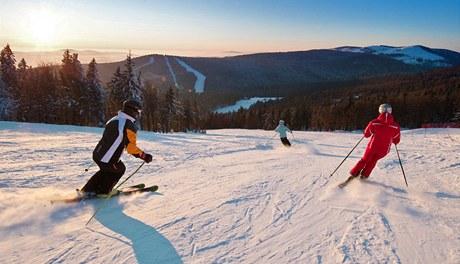Rakouský lyžařský areál Hochficht