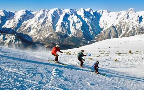 Rakouský lyžařský areál Hinterstoder