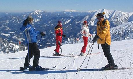 Rakouský lyžařský areál Hochkar