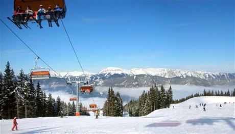 Rakouský lyžařský areál Semmering