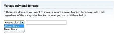 OpenDNS.com umožní zablokovat, nebo naopak povolit, přístup k jednotlivým doménám