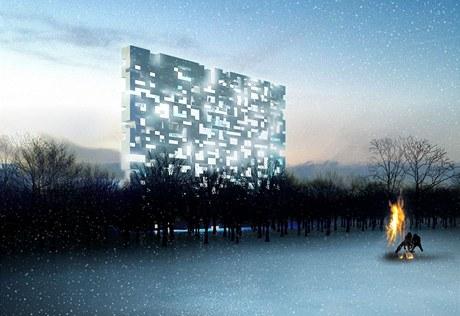 Vítězný návrh Ondřeje Chybíka vyšel ze struktur rodinného bydlení