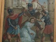 Křížová cesta z kostela v Bohuňově