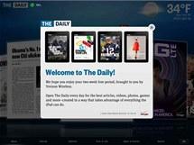 Stránky deníku The Daily, který je distribuován výhradně přes iPad