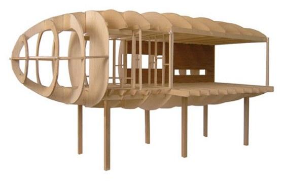 Skořepinová konstrukce skeletu byla inspirována konstrukcemi letadel a lodí